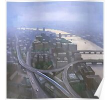 London, Looking West from the Shard Poster