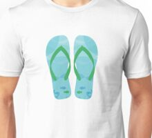 Summer Beach Flip Flops Unisex T-Shirt