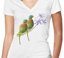 Rainbow lorikeet of Australia 4 Women's Fitted V-Neck T-Shirt