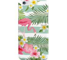 Tropical Flamingo Summer Time Design iPhone Case/Skin