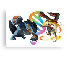 MegaEvolution (Swampert vs Blaziken)-Pokemon Canvas Print