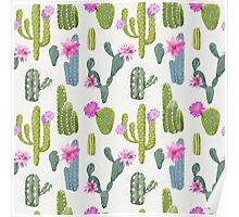 Exotic Cactus Plant Design Poster