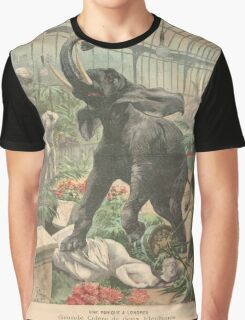 Elephant rampage Crystal Palace London 1900 Graphic T-Shirt