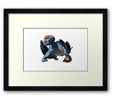 Pokemon - Mega Swampert Framed Print