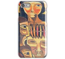 Painted Indigenous Faces iPhone Case/Skin