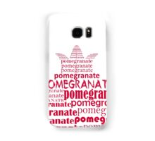Typographic pomegranate Samsung Galaxy Case/Skin