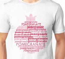 Typographic pomegranate Unisex T-Shirt