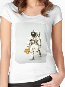 Space can be lonely Women's Fitted Scoop T-Shirt