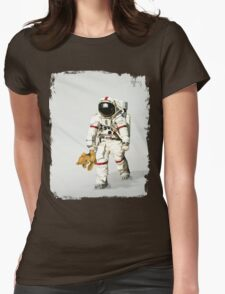 Space can be lonely Womens Fitted T-Shirt