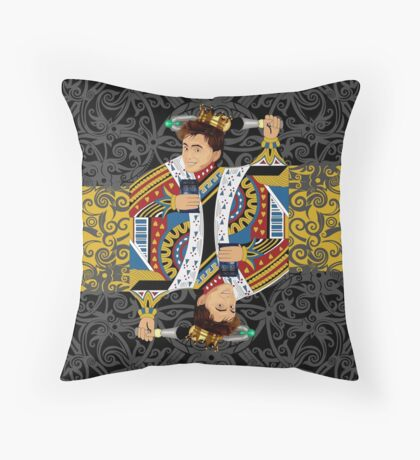 The kings of all cards Throw Pillow