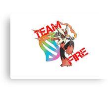 Pokemon - Team Fire - Blaziken Canvas Print