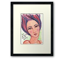 Dream Girl - Let Your Dreams Inspire Your Reality Framed Print