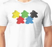 Set of 5 meeples (Board game tokens) Unisex T-Shirt