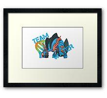 Pokemon - Team Water - Swampert Framed Print
