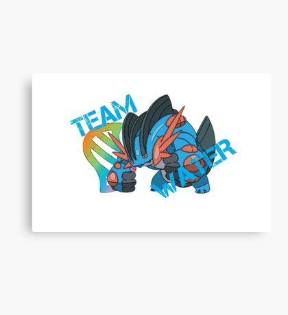 Pokemon - Team Water - Swampert Canvas Print
