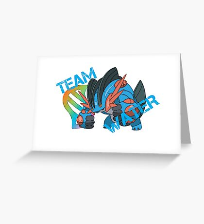 Pokemon - Team Water - Swampert Greeting Card