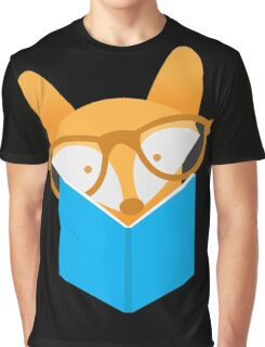 A cute foxy reading Graphic T-Shirt