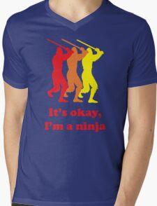 It's Okay I'm A Ninja Funny T-Shirt Mens V-Neck T-Shirt