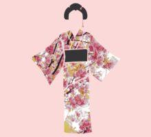 KIMONO in cherry blossom Baby Tee