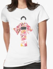 KIMONO in cherry blossom Womens Fitted T-Shirt