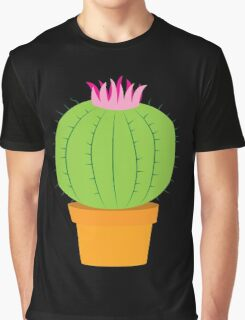Single green round flowering cactus Graphic T-Shirt