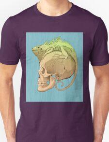 colorful illustration with iguana and skull Unisex T-Shirt
