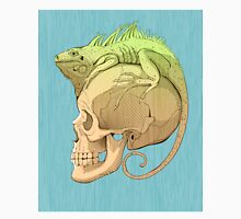 colorful illustration with iguana and skull T-Shirt