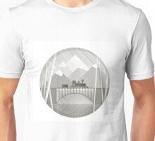train bw Unisex T-Shirt