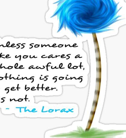 The Lorax Unless Sticker