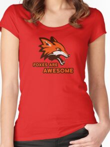 Foxes Are Awesome Cool Animal Nature Cute Fun Women's Fitted Scoop T-Shirt