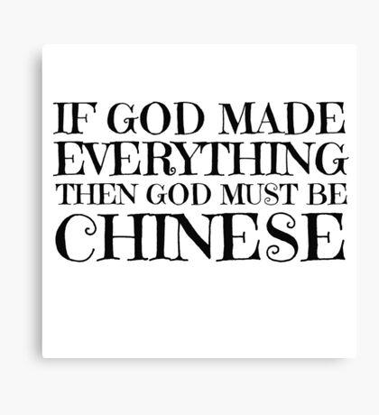 Atheist Humour Ironic Funny Comedy God Religion Canvas Print