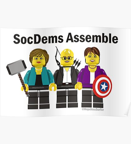 SocDems Assemble! Poster
