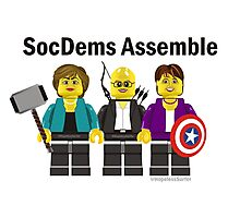 SocDems Assemble! Photographic Print