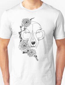 Cat skull and roses Unisex T-Shirt
