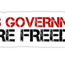 Less Government Freedom Free Speech Liberty Political Sticker