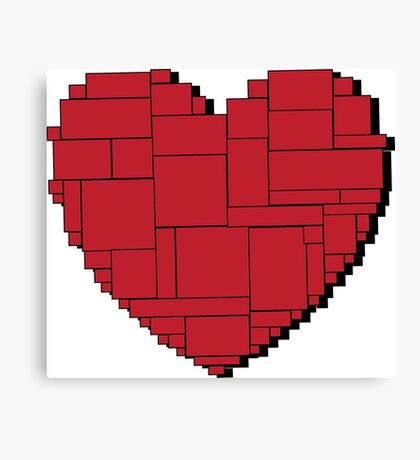 Paper Heart (Red) Canvas Print