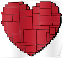 Paper Heart (Red) Poster
