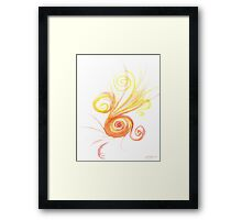 Watercolour Spiral Framed Print