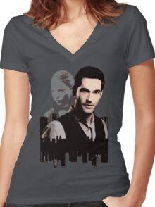 Lucifer Morningstar Women's Fitted V-Neck T-Shirt