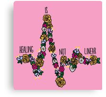 Healing Is Not Linear Canvas Print