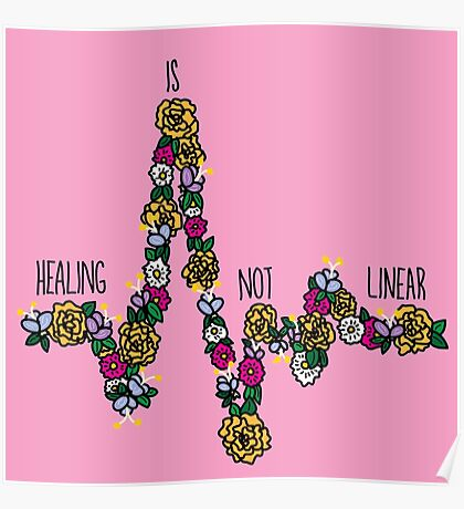 Healing Is Not Linear Poster