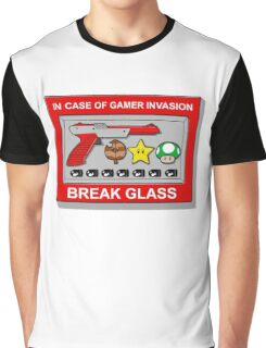 In case of Gamer Invasion Graphic T-Shirt