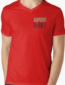 Earths Mightiest Heroes Mens V-Neck T-Shirt