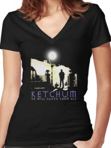 Ketchum Devil Hunter Women's Fitted V-Neck T-Shirt