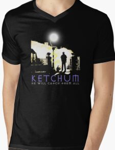 Ketchum Devil Hunter Mens V-Neck T-Shirt