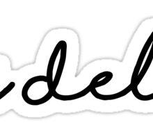 ddd handwriting Sticker