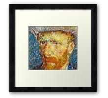 Vincent van Gogh Generative Portrait Framed Print