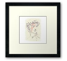 David: Michelangelo and Bowie Framed Print