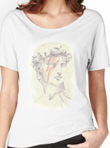 David: Michelangelo and Bowie Women's Relaxed Fit T-Shirt