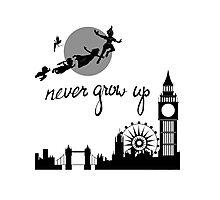 Never Grow Up Peter Pan  Photographic Print